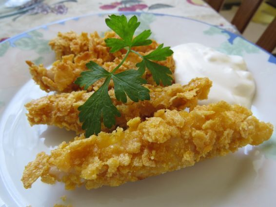 Photos 1 от recipe за Cornflake-Crusted Chicken Tenders