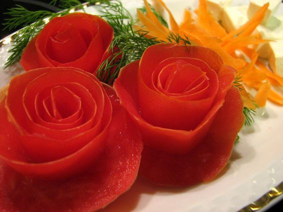 Photos 1 от recipe за Roses from tomatoes