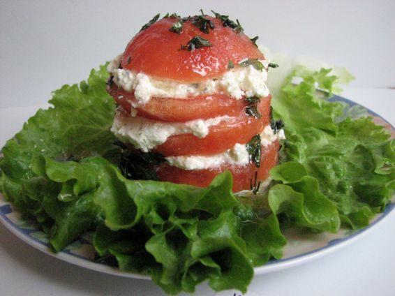 Photos 1 от recipe за Tomato towers
